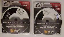 Lot Of Two 2 Dremel Us600 01 Ultra Saw 4 Inch 98mm Wood Flush Cut Wheel Rotozip