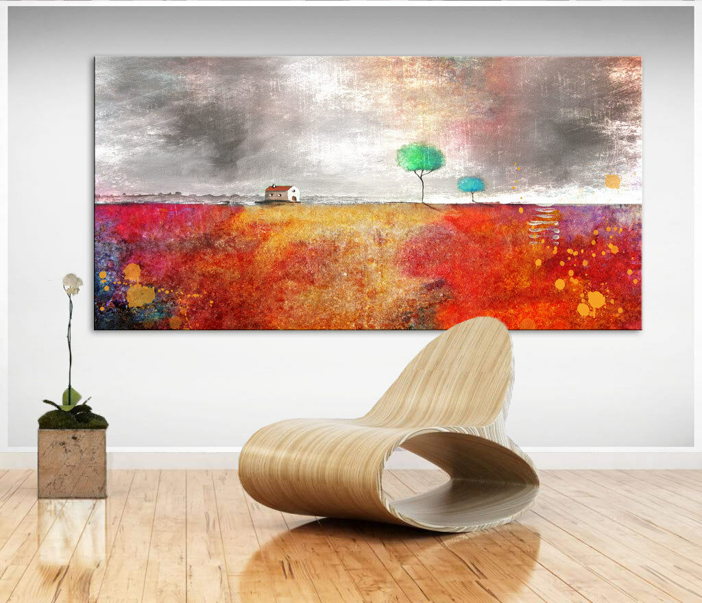 Abstrakte Wandbilder Landschaft Bild auf Leinwand Kunst Bilder Kunstdruck D0365