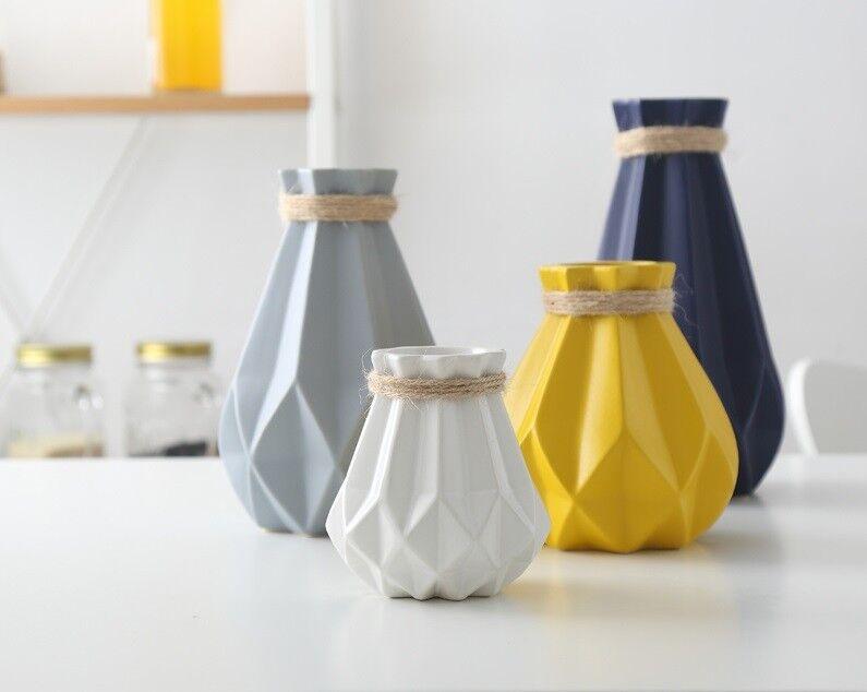 Europe Brief Matt Diamond Porcelain Vase Modern Fashion Ceramic Flower Vase Room