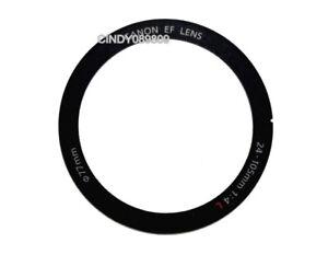 Lens Front Name Ring Nameplate Label Logo Barrel For Canon EF 24-105mm f//4 IS II