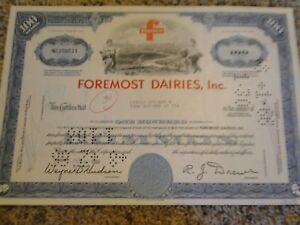 Foremost-Dairies-Inc-Stock-Certificate-100-Shares