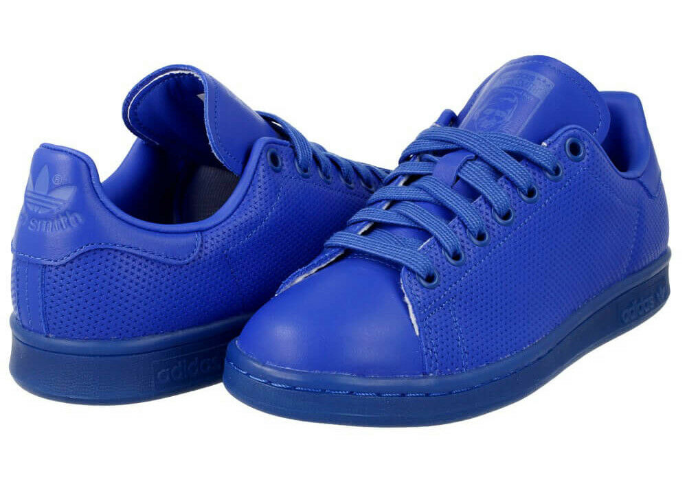 Tamaño de Reino Smith Unido 5-Adidas Originals Stan Smith Reino Adicolor entrenadores-Azul f47432