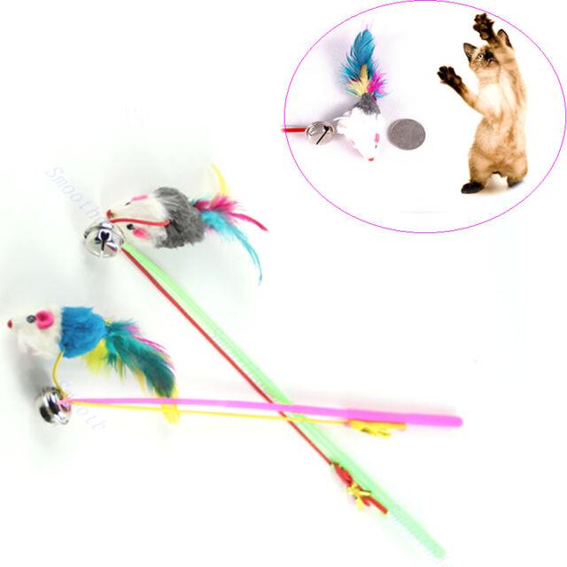 Pet Cat Dog Kitten Play Playing Toy Fun Funny Dangle False Mouse Rat Rod