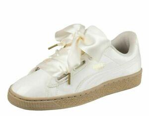 Details about Puma Women's BASKET HEART PATENT Shoes Marshmallow 363073 06 b