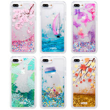 For iPhone 11 8 7 6s Plus Dynamic Liquid Glitter Quicksand Hard Phone Case Cover