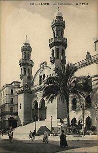 Algier-Alger-Algerien-Afrika-Africa-Postkarte-AK-1910-Mosquee-Ketchaoua-Moschee