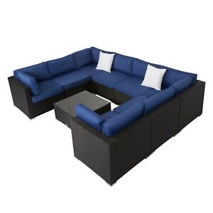 9pcs-Outdoor-Wicker-Rattan-Sofa-Patio-Sofa-Furniture-Set-Sectional-Navy-blue