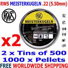 RWS MEISTERKUGELN .22 5.50mm Airgun Pellets 2 (tins)x500pcs (10m RIFLE) 0,91g