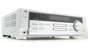 JVC-AV-Receiver-Amplifier-Silver-Face-Tuner-Stereo-Surround-Audio-RX-6022