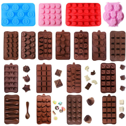 Silicone Cake Chocolate Mould DIY Fondant Decor Baking Ice Cube Tray Pan Tool
