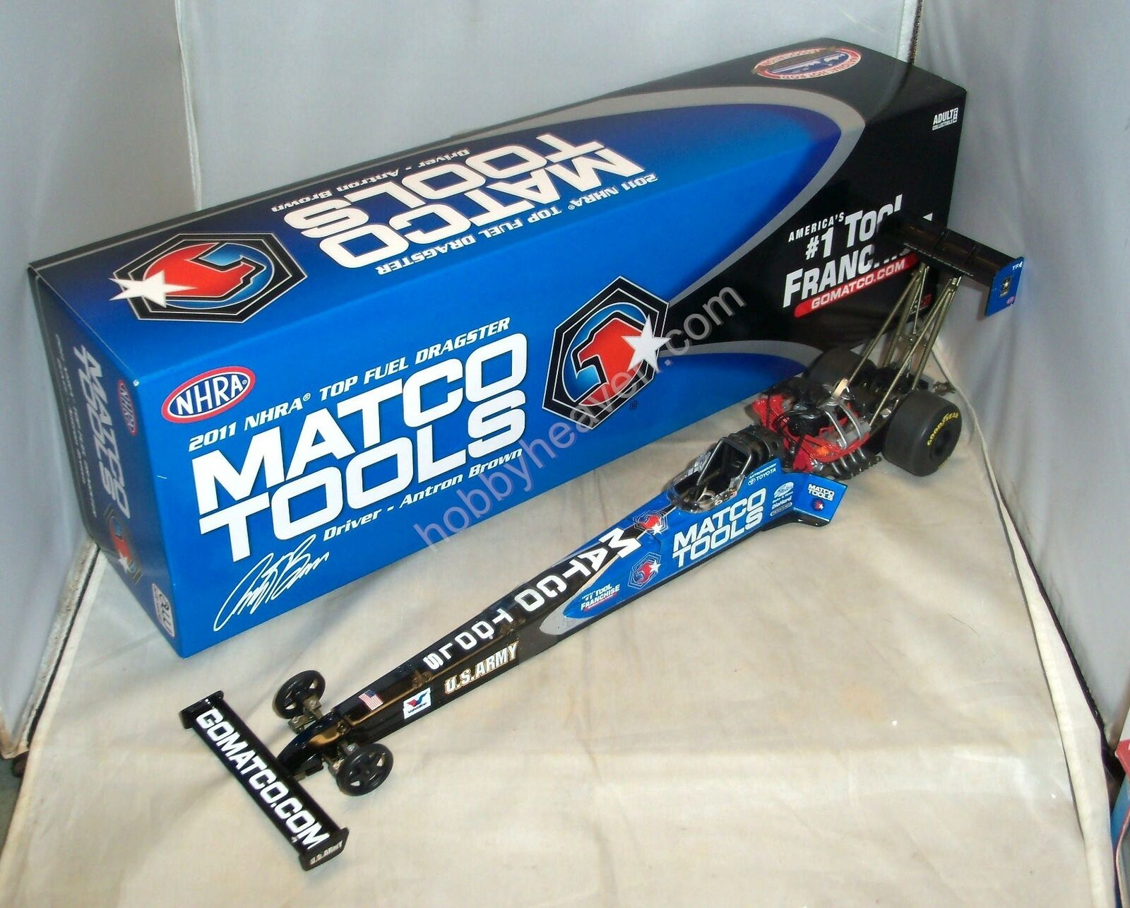 1 24 2011 AUTO WORLD RC2 NHRA TOP FUEL DRAGSTER MATCO TOOLS DSR ANTRON Marronee