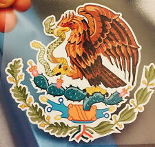 """LARGE 20"""" x 18.75"""" Mexican Coat of Arms Sticker Decal Flag Car Truck Vinyl"""