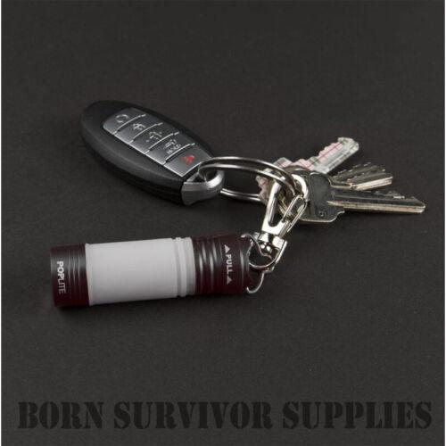 Iprotec Pop Light Mini Porte-clés lanterne torche EDC Cadeau Format de poche clip Nebo Lite