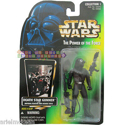 STAR WARS POWER OF THE FORCE DEATH STAR GUNNER W// RADIATION SUIT /& BLASTER MOSC