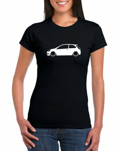 Fiesta MK6 3 portes Outline 100/% Ringspun Coton Femme T-shirt à encolure ras-du-cou