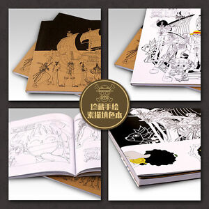 New One Piece Coloring Book Japanese Anime Manga Paint Book Gifts Ebay