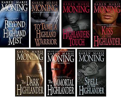 Karen Moning Complete Paperback Highlander Series 1-7 BRAND NEW!