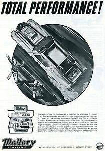 1972 Mallory Ignition Total Performance Ad w/ Chevrolet Chevy Camaro Pro Stock