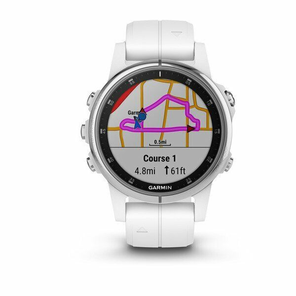 Garmin Fenix 5S Plus White w  White   010-01987-00   AUTHORIZED GARMIN DEALER