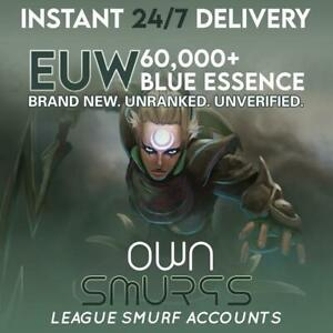 [EUW 70K+]League of Legends Unranked Account EUW SMURF LoL 70,000 - 80,000 BE IP