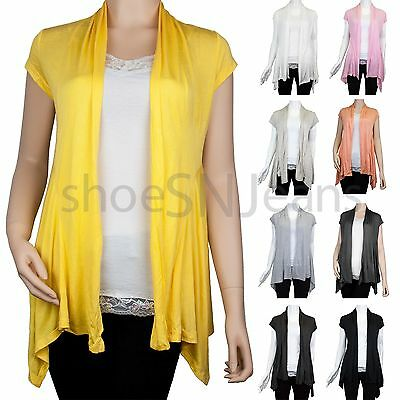 New Wome Basic Casual Solid Plain Short Sleeve Cardigan Long Plus Size Top