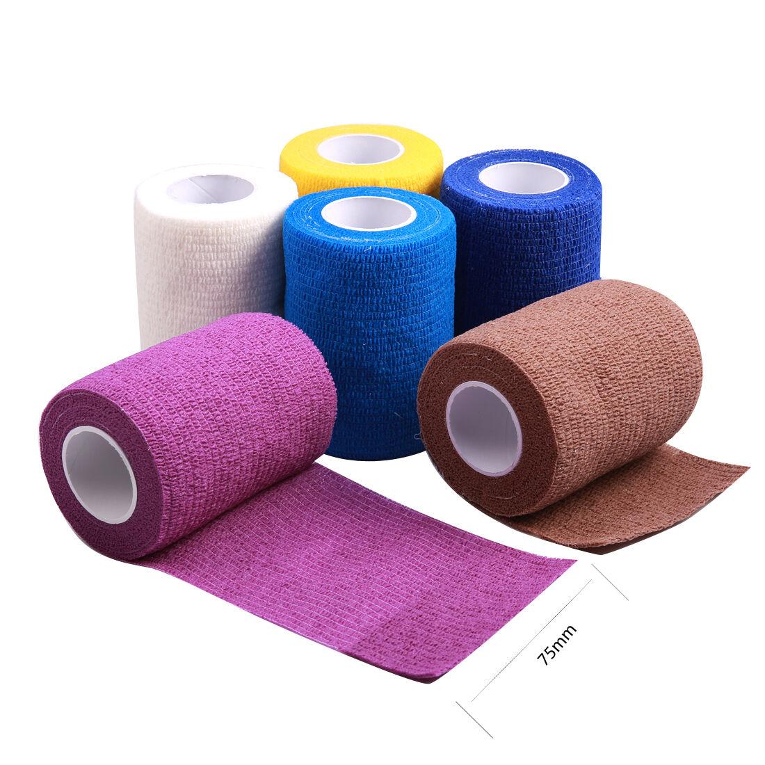 6pcs Self Adhesive Elastic Bandage Wrap First Aid Medical Gauze Random Color Ebay