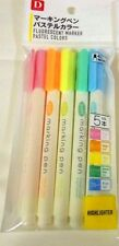 DAISO JAPAN 5color  Pastel  Color Highlighter Marker Pen From JAPAN