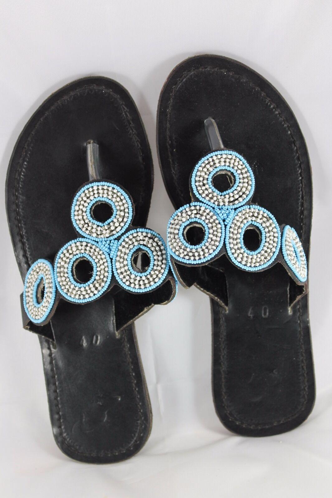 Sandali splendidi realizzati a mano Big o sandali in pelle con perline SPEDIZIONE GRATUITA