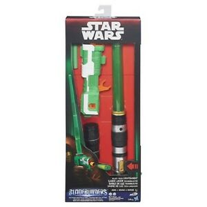 Star Wars Last Jedi Kylo Red Basic Extendable Lightsaber Ages 4 Blade Builders