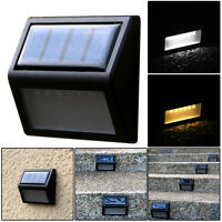 6 LED Solar Powered Light Wall Stairs Waterproof Outdoor Path Garden Fence Lamp