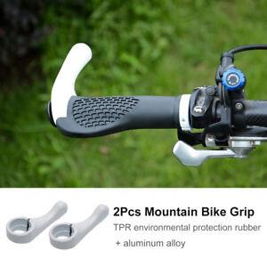 Par-Punos-de-Manillar-Grip-Para-Bici-Bicicleta-de-Montana-MTB-Ciclismo-Blanco