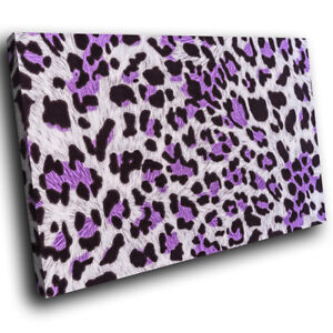 Purple-Leopard-Fur-Coat-Funky-Animal-Canvas-Wall-Art-Large-Picture-Prints