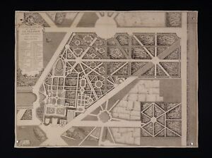 Jean-Mariette-1660-1742-Plan-Palace-and-Gardens-Trianon-Architecture-1730-King
