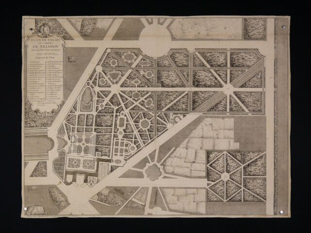 Jean Mariette (1660-1742) Plan Palace and Gardens Trianon Architecture 1730 King