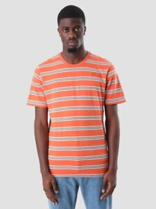 760290f0e829 Nike SB Summer Striped Tee New Orange White Jungle Green T-Shirt ...