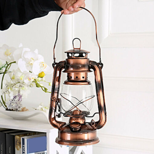 Oil Lantern Garden Outdoor Camping Kerosene Paraffin Hurricane Lamp Wick Lights