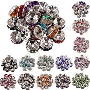 100-Pcs-Acrylic-Silver-Plated-Spacer-Loose-Beads-Charms-Findings-Accessories-8mm