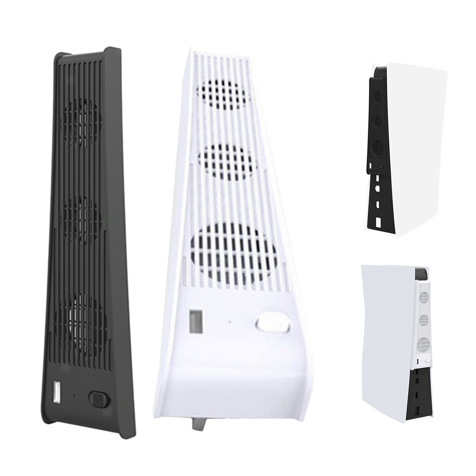 Vertical Stand 2 in 1 3-FanHost Cooling Fan for PS5 Console Gaming Needs