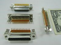 4 Female D-sub To Pcb Connectors, Db-25 25 Gold Plated Pins, 56-124-005-3-gl