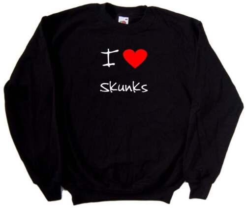 I Love Heart Skunks Sweatshirt