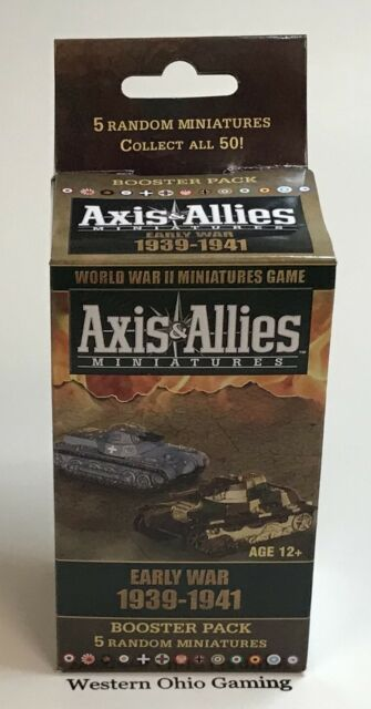 A&A Axis & Allies Miniatures Early War 1939-1941 Booster Pack NEW from Case