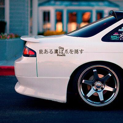 Stay Humble Kanji Low Fun Jdm Stance Japan Car Windshield