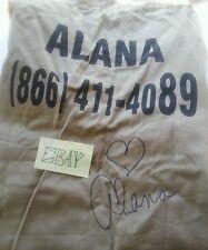 Alana Stewart LS Brown Shirt Autographed on Back w/heart XS Rod Stewart(HS)