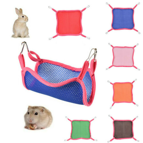 Hamster Summer Net Hammock Breathable Swing Mat Cage Pet Bird Hanging Bed Toy