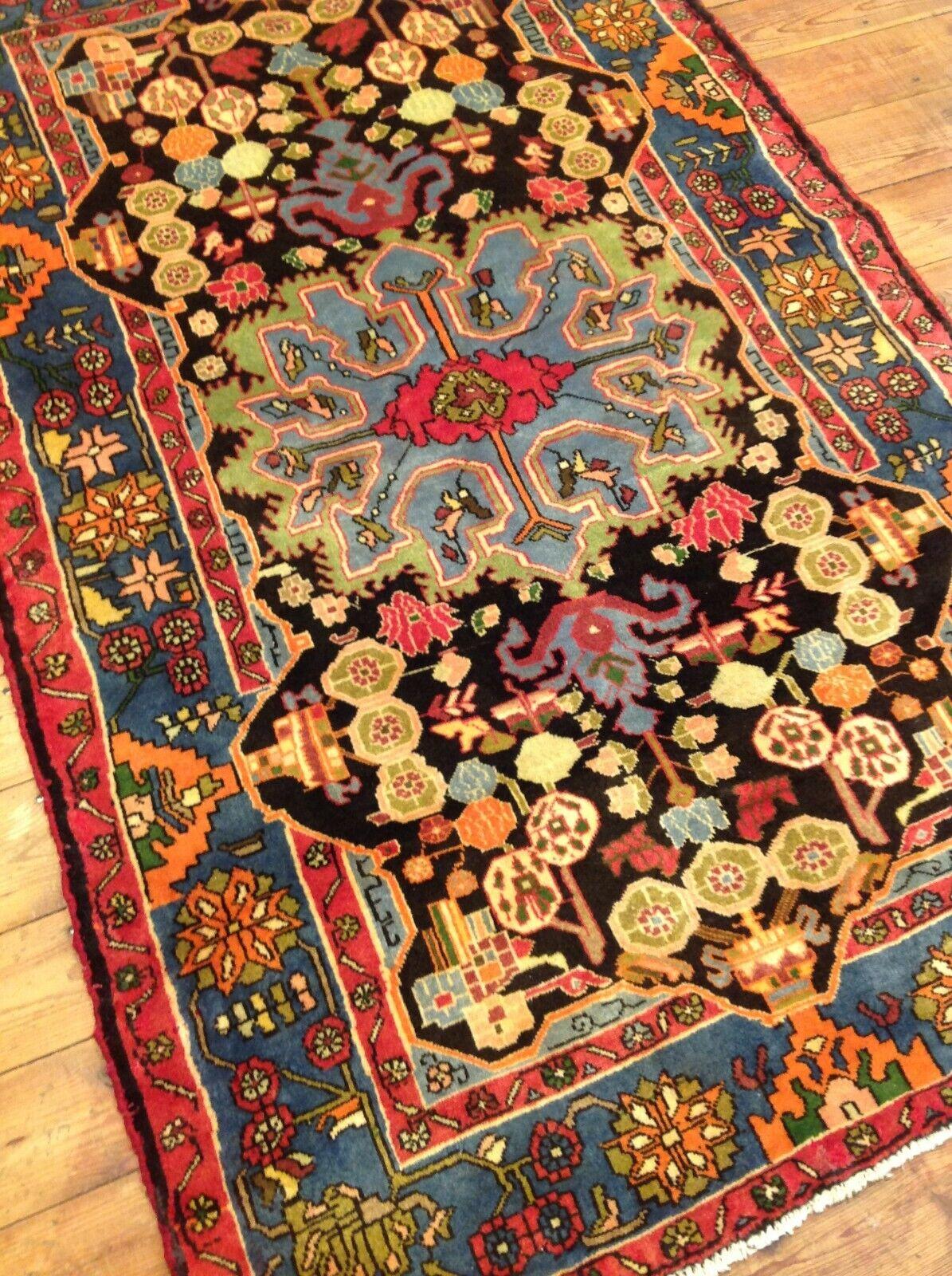 Precioso Orient alfombra Hamadan (200 x 130 cm) Top estado nuevo