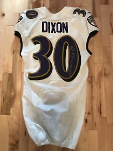Image is loading Kenneth-Dixon-2018-Game-Used-Autographed-Worn-Baltimore- 066c44ada