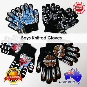 Boys-Girls-Children-Winter-Gloves-Character-Soft-Knitted-Glove-Finger-Anti-Slip
