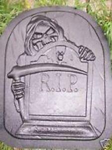 Large heavy duty grim reaper plastic Halloween Tombstone mold
