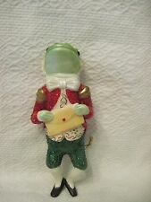 New David DeCamp Frog 5 inch figurine Christmas Ornament Model DC1601