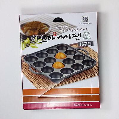 Takoyaki Grill Pan 16 Cavities Octopus Cake Takoyaki Maker Japanese Oishii snack